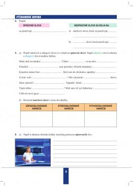 SLOVENSKÝ JAZYK pre 7. ročník - pracovný zošit