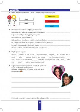 SLOVENSKÝ JAZYK pre 9. ročník - pracovný zošit