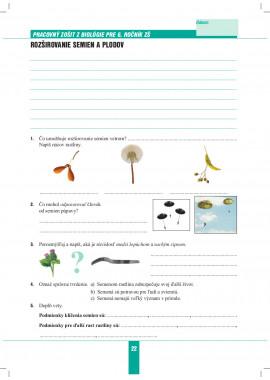 BIOLÓGIA 6 - pracovný zošit
