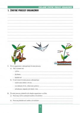 BIOLÓGIA 8 - pracovný zošit